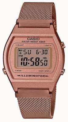 Casio Vintage | digital | pulseira de malha pvd ouro rosa B640WMR-5AEF