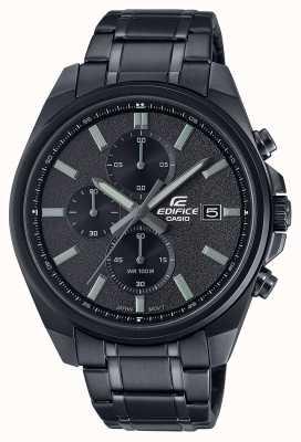 Casio Edifício todo ip preto | pulseira de aço inoxidável preto | mostrador preto EFV-610DC-1AVUEF