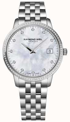 Raymond Weil Toccata | madrepérola diamante dial feminino | 5388-STS-97081