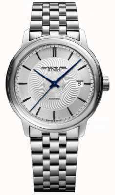 Raymond Weil Maestro | pulseira de aço inoxidável para homem | mostrador prateado 2237-ST-65001