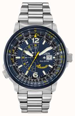 Citizen Falcão noturno promaster azul do eco-drive masculino BJ7006-56L