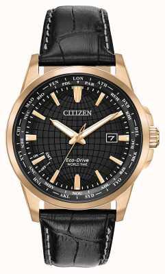 Citizen Cronômetro mundial do eco-drive masculino wr50 BX1003-08E