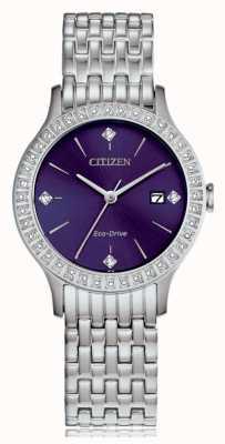 Citizen Caixa de cristal feminino eco-drive FE1200-51L