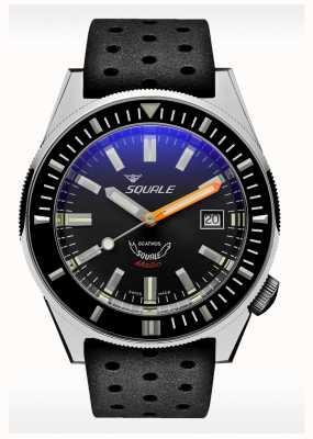Squale Borracha cinza Matic | automático | mostrador cinza | pulseira de silicone preta MATICXSA.NT-CINTRB22