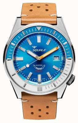 Squale Couro Matic azul claro | automático | mostrador azul | pulseira de couro marrom MATICXSE.PTC-CINU1565CM