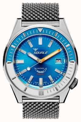 Squale Malha matic azul claro | automático | mostrador azul | pulseira de malha de aço inoxidável MATICXSE.ME22-CINSS22
