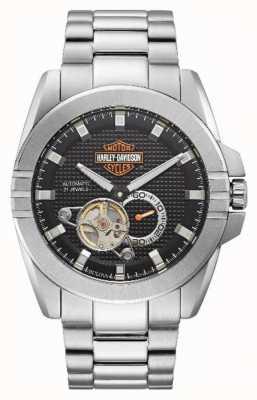 Harley Davidson Acelerador automático masculino | pulseira de aço inoxidável 76A166