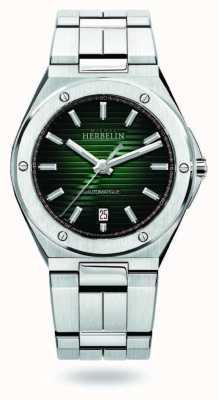 Michel Herbelin Cap camarat | automático | mostrador verde | aço inoxidável 1645/B16