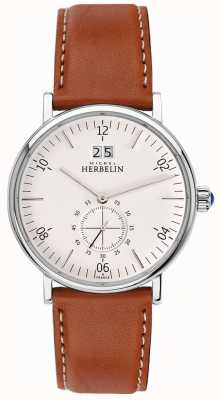 Michel Herbelin Montmartre | mostrador creme | pulseira de couro marrom 18247/11GO