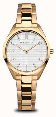 Bering Ultra slim | mulheres | ouro polido / escovado | mostrador branco 17231-734